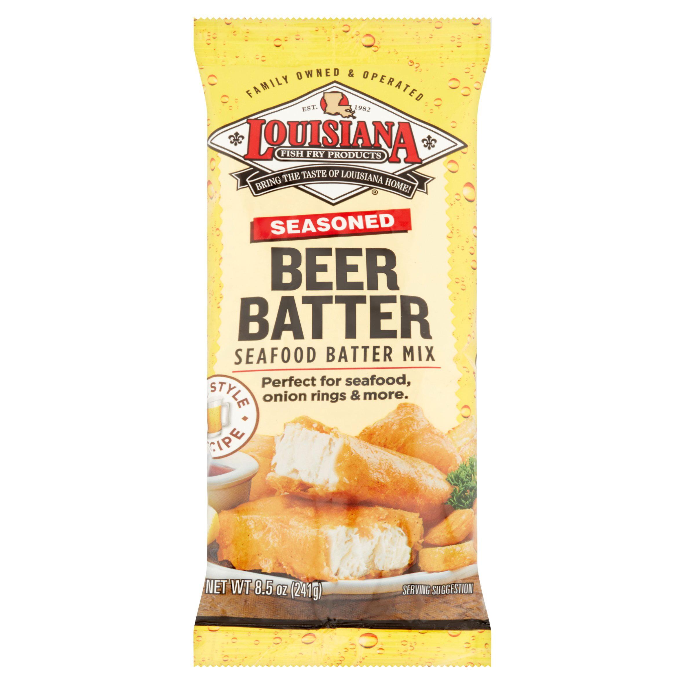 (3 Pack) Louisiana Fish Fry Products Seasoned Beer Batter Mix 8.5oz bag