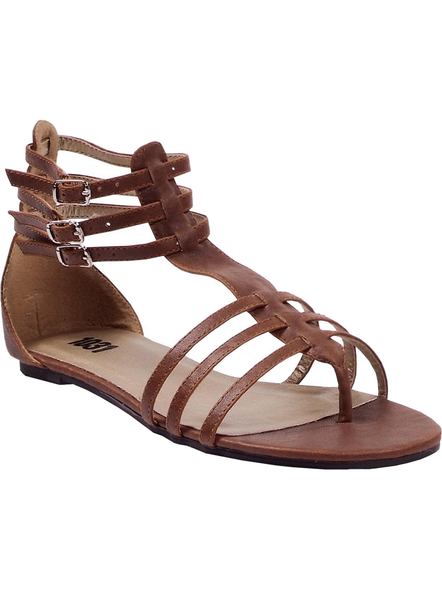 Gold Roman Sandal Womens Shoes Gladiator Flat Shoe Theatre Costumes Accessory