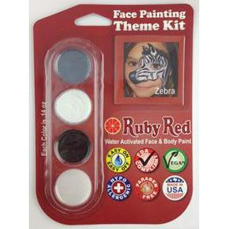 Ruby Red Face Paints - Zebra Theme Kit