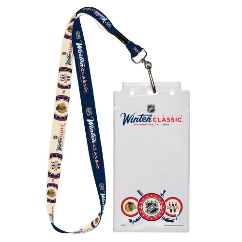 Chicago Blackhawks vs. Washington Capitals WinCraft 2015 NHL Winter Classic Dueling Lanyard With Credential Holder - No Size
