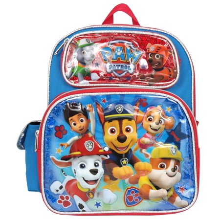 "Small Backpack - Paw Patrol - Team Red 12"" School Bag New 009649"