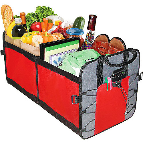 Highland 2 Pocket Trunk Organizer, Red and Gray