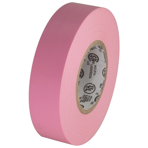 """Pink Electrical Tape 3/4"""" x 66 ft Roll 7 mil"""