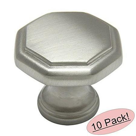 Cosmas 5181SN Satin Nickel Cabinet Hardware Octagon Knob - 1-1/4