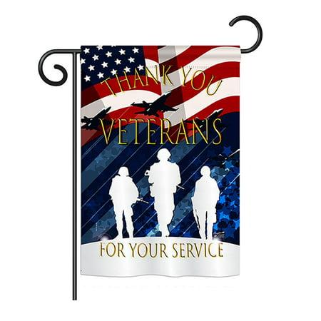 Angeleno Heritage G135167-BO Thank You Veterans Americana Military Impressions Decorative Vertical 13