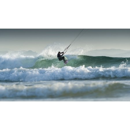 Kitesurfing Tarifa Cadiz Andalusia Spain Canvas Art - Ben Welsh Design Pics (40 x 22)