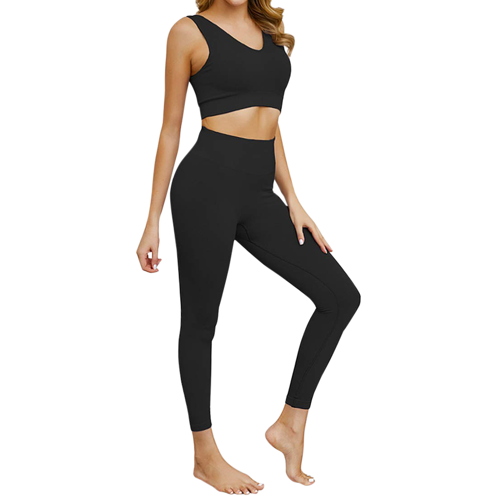 Details about  /Women Seamless Yoga Set Fitness Sports Suits Gym Clothing Cami Top Workout Pants