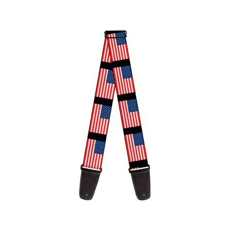 usa american flag stars and stripes red white blue guitar strap. Black Bedroom Furniture Sets. Home Design Ideas