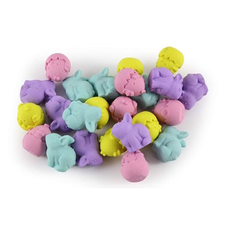 24 Cute Chick and Bunny Erasers - Easter - Small Novelty Prize Toy - Party Favors - Gift - Bulk 2 Dozen](Bulk Novelties)