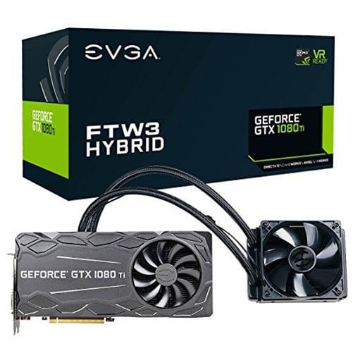 EVGA GeFforce GTX 1080 TI FTW3 Hybrid 11GB GDDR5X Graphics Card by EVGA