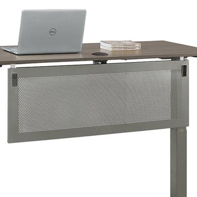 At Work Modesty Panel For 60 Quot Adjustable Height Desks Perforated Metal Walmart Com Walmart Com