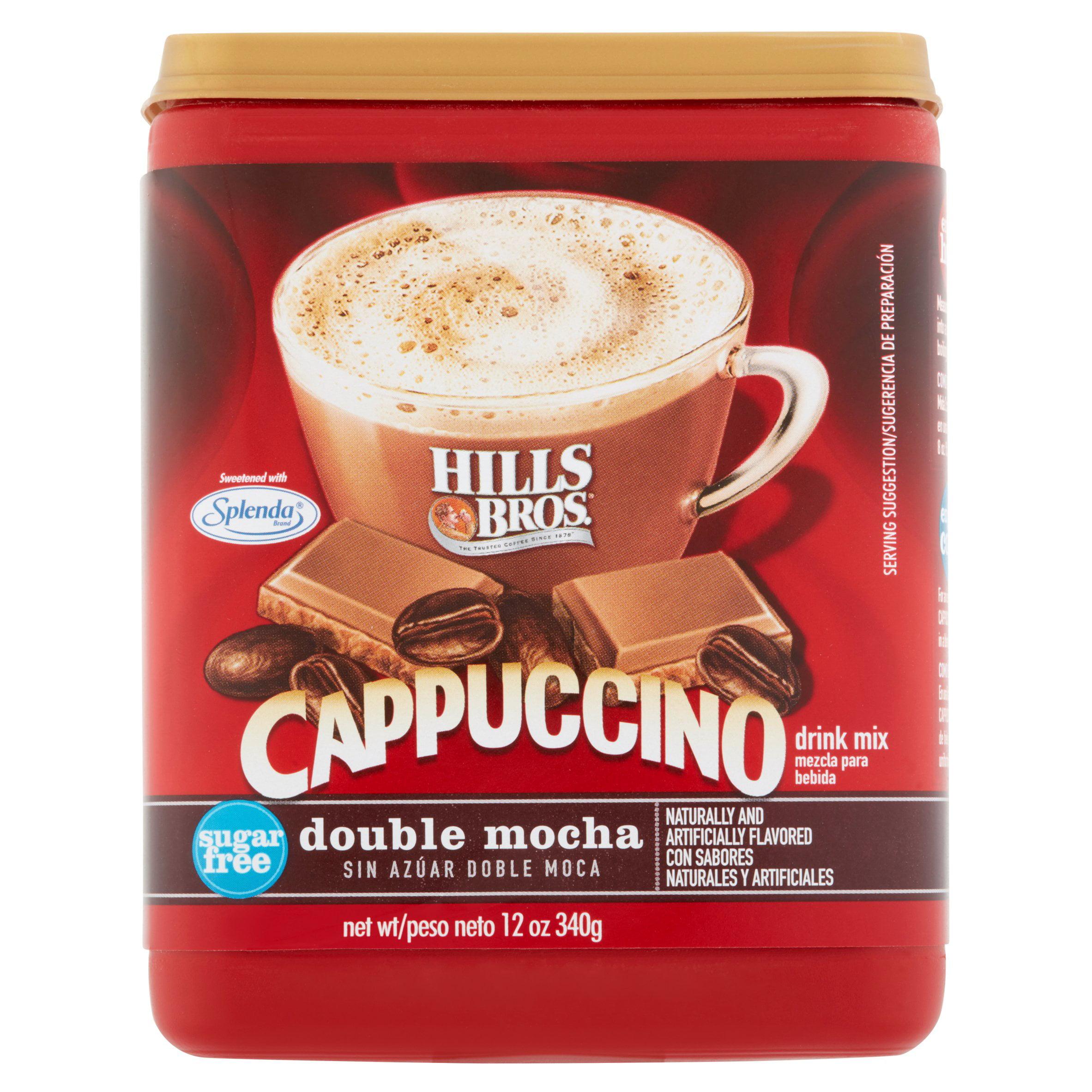 Hills Bros Sugar Free Double Mocha Cappuccino Beverage Mix, 12 oz ...