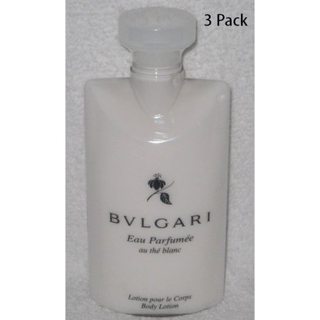 Bvlgari Au the Blanc Body Lotion, White Tea, 2.5 Oz - Set of 3 bottles