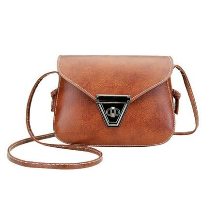 Fashion Soft PU Leather Women Crossbody Bag Adjustable Strap Shoulder Bag - image 1 of 10