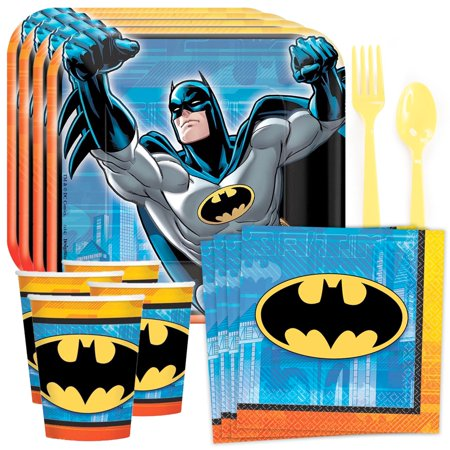 Batman Birthday Party Standard Tableware Kit (Serves 8)](Batman Party Supplies)