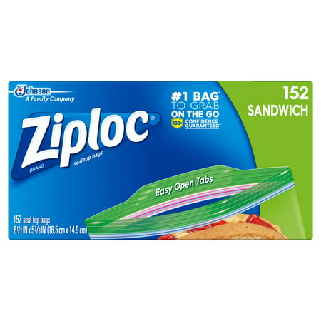 Ziploc Sandwich Bags 152 ct Sandwich Delivery Bag