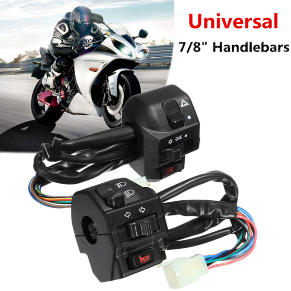 22mm 7//8/' Handlebar Hand Grips With Turn Signals for Harley Custom Sportsters
