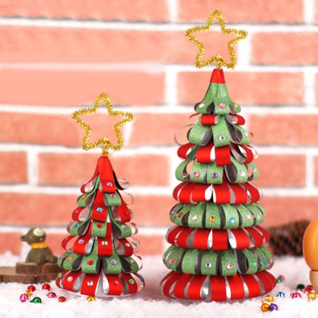 DIY Christmas Tree Homemade Detachable Mini Christmas Tree Ornaments Kids Decorate Gifts Toy Activity ()
