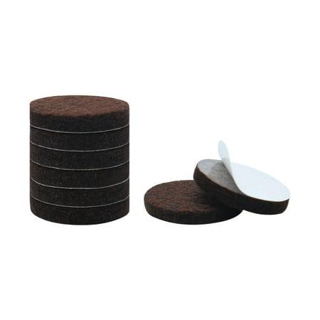 "Felt Furniture Feet Pads Round 3/4"" Dia Self Adhesive Floor Protector 8pcs - image 1 of 7"