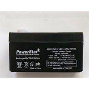 PowerStar AGM1213-34 12V 1.2Ah SLA Sealed Lead Acid Battery for UB1213 NP1.2-1