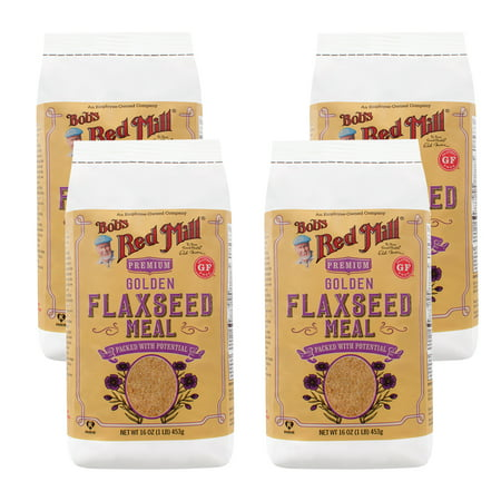 (4 Pack) Bob's Red Mill Golden Flaxseed Meal, 16