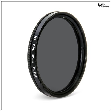 Cannon Low Profile Swivel Base - 52mm Circular Polarizing CPL Low Profile Slim Design Lens Filter for Canon and Nikon DSLR Camera Lenses by Loadstone Studio WMLS1173