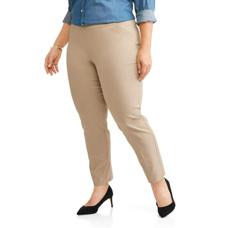 a2ada0d4075 Terra   Sky - Women s Plus Stretch Woven Straight Leg Pant - Walmart.com