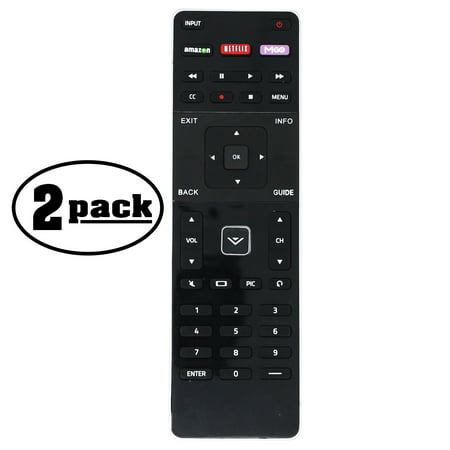 2-Pack Replacement E48C2 Dual Side Remote Control for VIZIO TV - Compatible with XRT500 VIZIO TV Remote Control - image 4 of 4