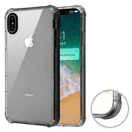 Apple iPhone Xs Max (6.5 Inch) - Phone Case Clear Shockproof Hybrid Armor Rubber Silicone Gel Cover Transparent Smoke Phone Case for Apple iPhone Xs