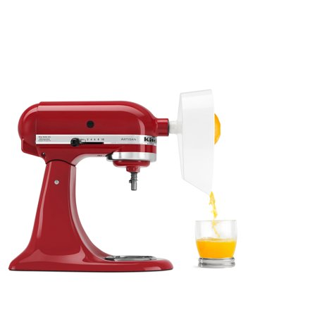 KitchenAid ® Citrus Juicer (JE) Mixer juicer attachment quickly extracts fresh juice from the smallest limes to the largest grapefruitsEasy to assemble, use and cleanConvenient option to make healthy drinks and to add to recipes