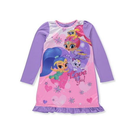 Night Shimmy (shimmer and shine long sleeve nightgown (big girl & little girl) )