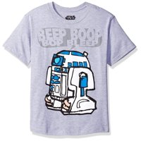 Star Wars R2-D2 Beep Bop Youth Grey T-Shirt | L