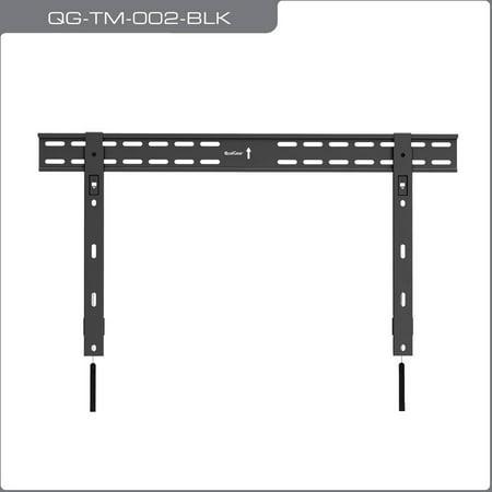 "QualGear QG-TM-002-BLK Universal Ultra-Slim Low-Profile Fixed Wall Mount for 37""-70"" LED Flat Panel TVs"
