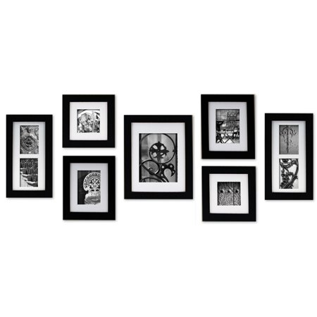 Create a Gallery 7 Piece Black Frame Kit - Walmart.com