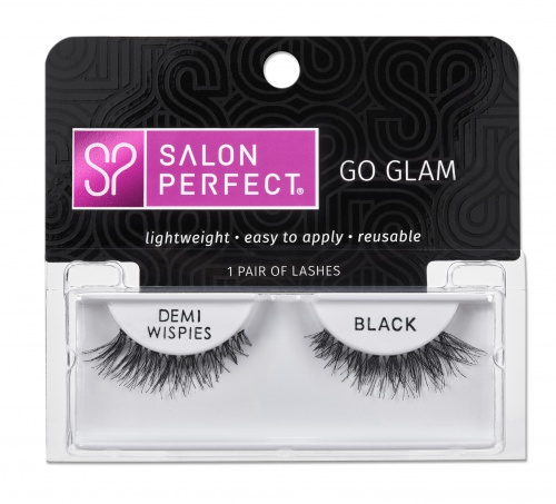 Salon Perfect Glamourous Lash Demi Wispie, Black, 1 Pair