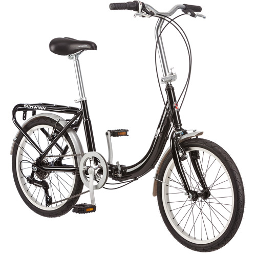 "20"" Schwinn Loop Unisex Folding Bike, Black"