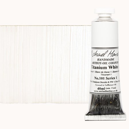 Michael Art Supply (Michael Harding Handmade Artists Oil Color 40ml - Titanium White No.)