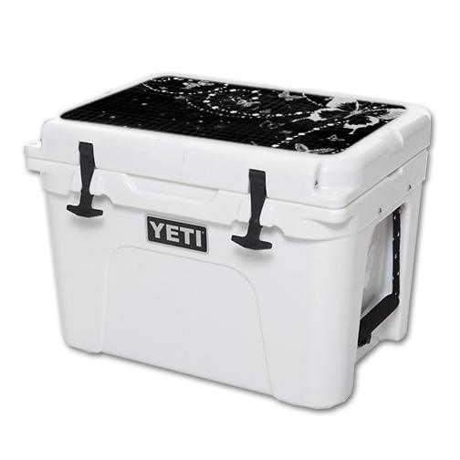 MightySkins Protective Vinyl Skin Decal for YETI Tundra 35 qt Cooler Lid wrap cover sticker skins Black Butterfly