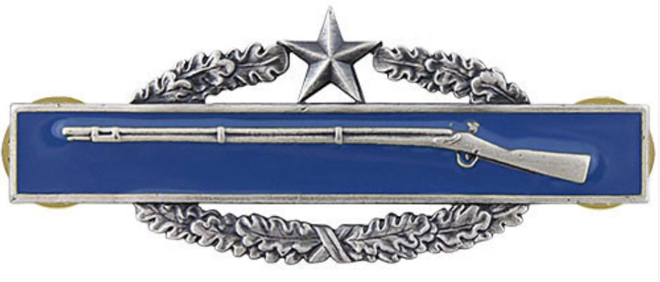 Combat Infantry Badge 2nd Award Badge (Oxidized Finish) by Vanguard