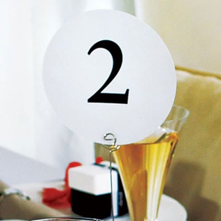 Weddingstar 6161-13 Round Table Number Card - 13-24 ()