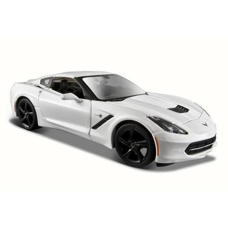 2014 Chevy Corvette Stingray Coupe, White - Maisto 31505 - 1/24 Scale Diecast Model Toy Car