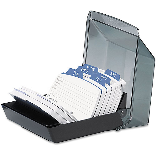 Rolodex Petite Covered Tray Card File, Black