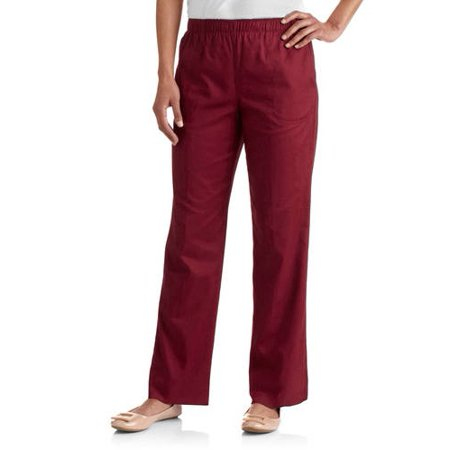 e66a603944c9b White Stag - White Stag Women's Elastic Waistband Woven Pull-On Pants  available in Regular and Petite - Walmart.com