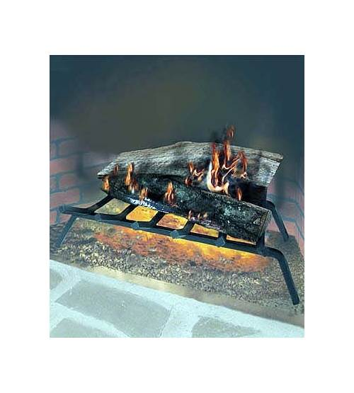Extra Large Fireplace Grate Heavy Duty Thick 9 Solid Steel Bar Rod Black 36 in