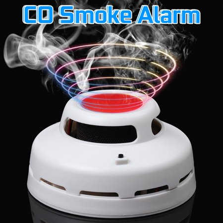 2 in 1 Carbon Monoxide & Smoke Alarm Smoke Fire Sensor Alarm CO Carbon Monoxide Detector Sound Combo Sensor Tester Battery Operated with  Display for CO Level - image 12 of 13