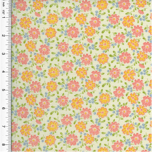 Designer Cotton Multicolor Hatfield Floral Print Home Decorating Fabric, Fabric By the Yard