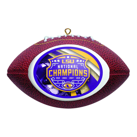 Boelter Brands LSU Tigers 2019-2020 CFP National Champions Purple Glass Ornament