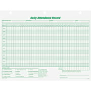 TOPS, TOP3284, Daily Employee Attendance Record Form, 1 Pack, White