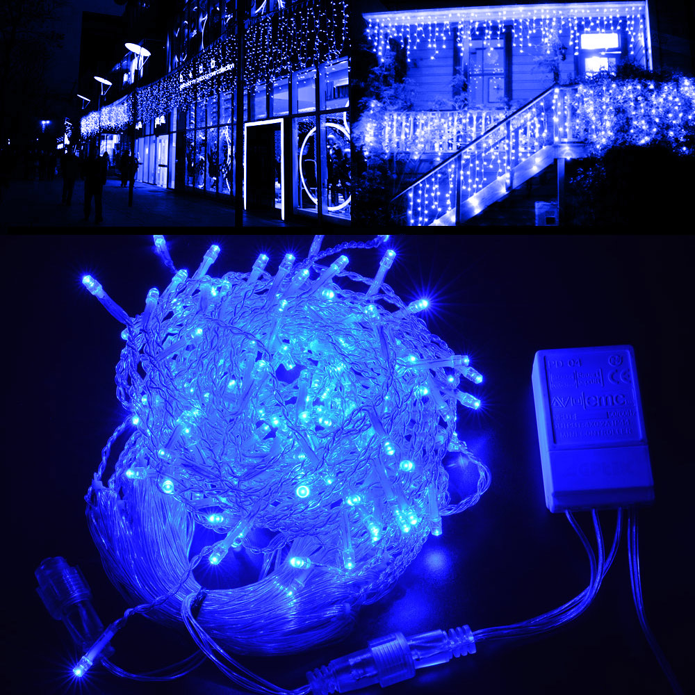 agptek 25Mx0.6M Linkable Fairy Curtain Lights Strings Con...