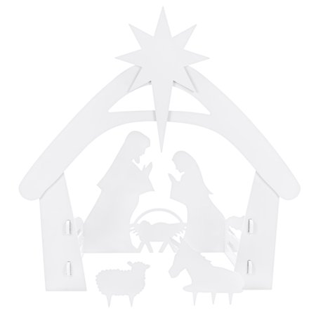 Best Choice Products 4ft Christmas Holy Family Nativity Scene, Outdoor Yard Decoration w/ Water Resistant PVC Christmas Nativity Clipart